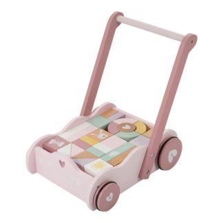 Mooie houten Blokkenkar pastel roze_Little Dutch_Lanoeka_4414