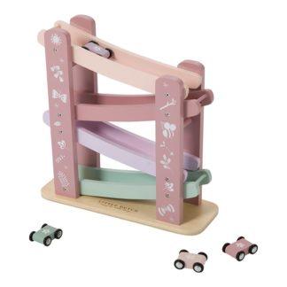 Houten autobaan roze Little Dutch_Lanoeka_4374