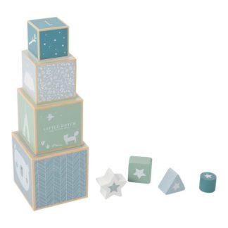 Houten blokken blauw Little Dutch_Lanoeka_4419
