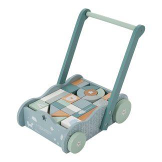 Houten blokkenkar pastel blauw_Little Dutch_Lanoeka_4415