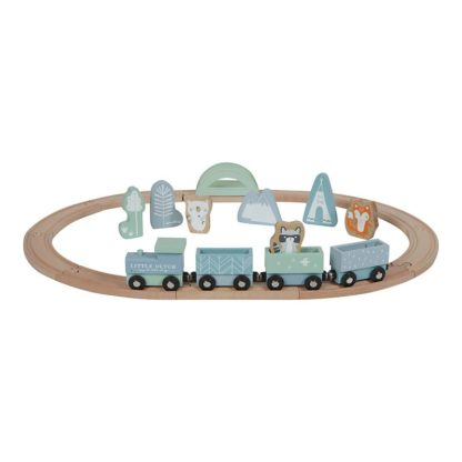 Houten trein blauw Little Dutch_Lanoeka_4423
