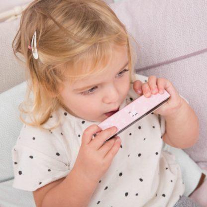 Mondharmonica roze Little Dutch