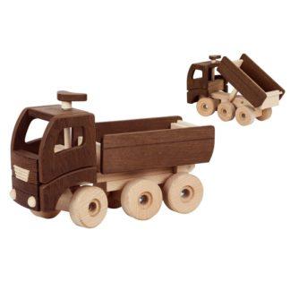 Mooie houten speelgoed vrachtwagen Goki