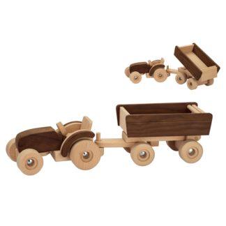 Houten speelgoed tractor Goki