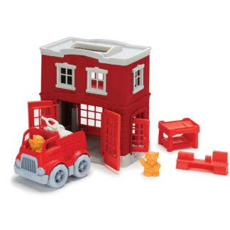 Green Toys brandweerkazerne - brandweerspeelgoed