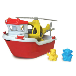 Green Toys reddingsboot - met felgele helicopter