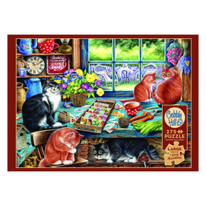Familiepuzzel Cobble Hill katten